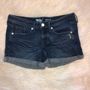 Mossimo Mid-Rise Midi Denim Shorts